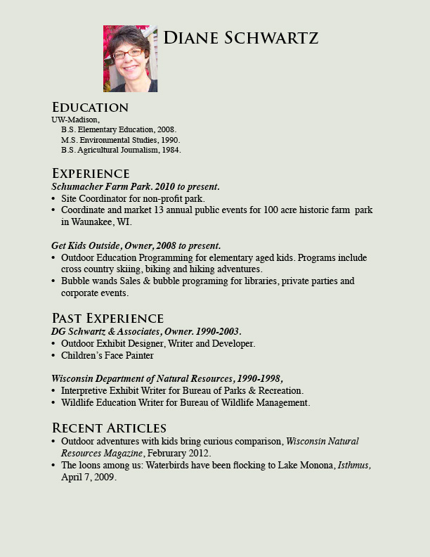 Kids modeling resume